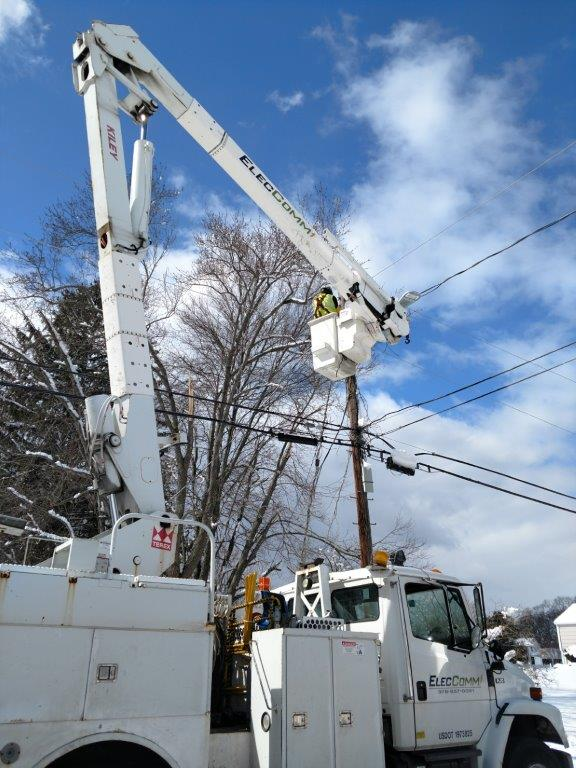 ElecComm - Power line repairs or maintenance in Boston, MA