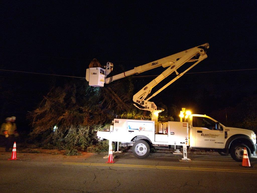 ElecComm - power line storm response in Boston, MA