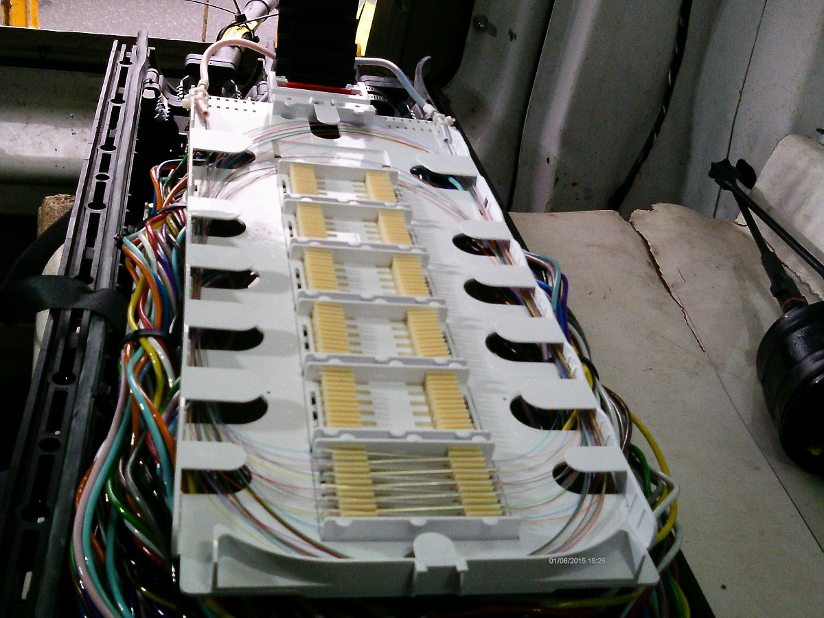 ElecComm Fiber optic splicing in Boston, MA