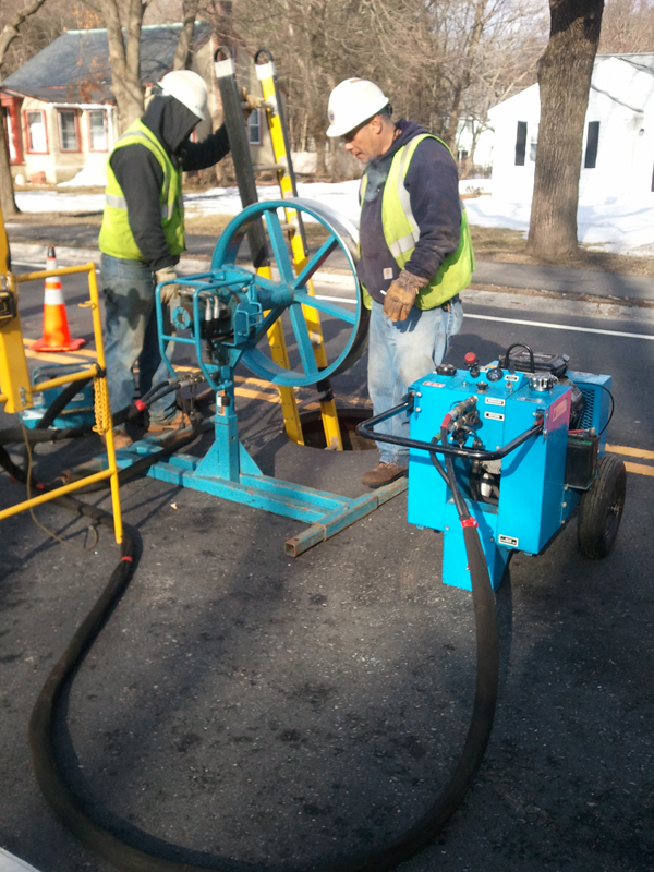 ElecComm underground high voltage cable installation in Boston, MA